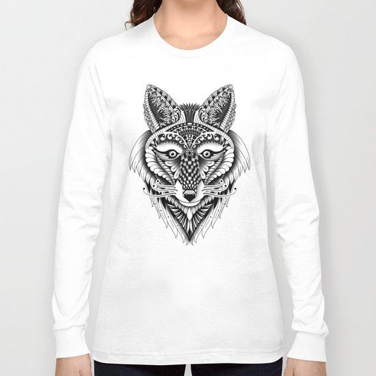 Ornate Foxy Wolf Long Sleeve T-shirt