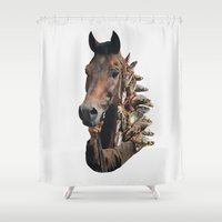 seahorse Shower Curtains featuring Seahorse by Lerson