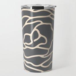 Rose White Gold Sands on Storm Gray Travel Mug