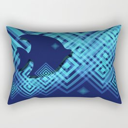 Blue Fish Angel Anglers Angles Rectangular Pillow