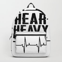 Heavy Metal Music Heartbeat Backpack