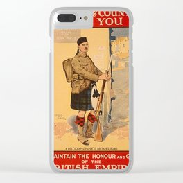 Your King and Country Need You, British Empire Clear iPhone Case