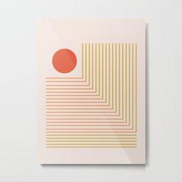 Lines & Circle 02 Metal Print
