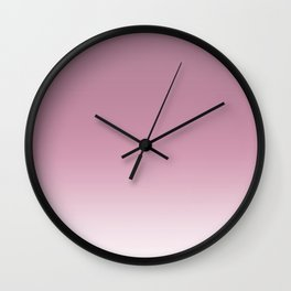 Smoky pink ombre . Wall Clock