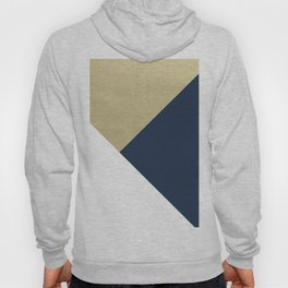 Gold meets Navy Blue & White Geometric #1 #minimal #decor #art #society6 Hoody