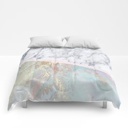 Whimsical marble fantasy Comforters