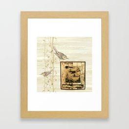 Bird On Screen Framed Art Print