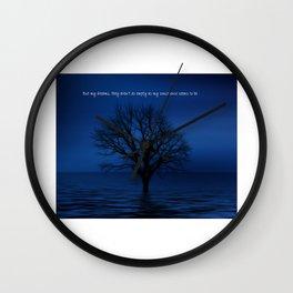 Behind Blue Eyes   Inspired Lyric Art Print Wall Clock