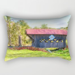 Quilted Covered Bridge Rectangular Pillow