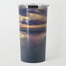 Stormy Beach Sunset Travel Mug