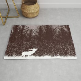 The rut - deer mating season Rug