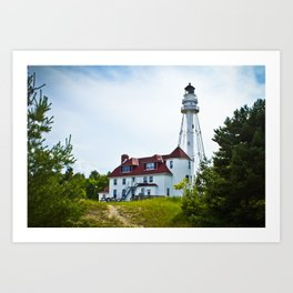 Two Rivers Wisconsin Lighthouse Art Print