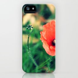 Czerwone Maki - three iPhone Case