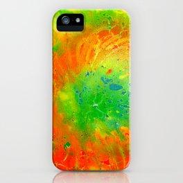 Orange In Green iPhone Case