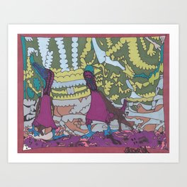 A Couple of Booby Birds Art Print