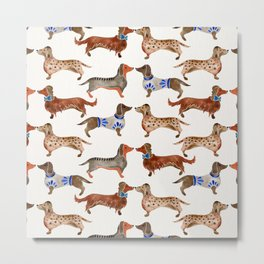 Dachshunds Metal Print