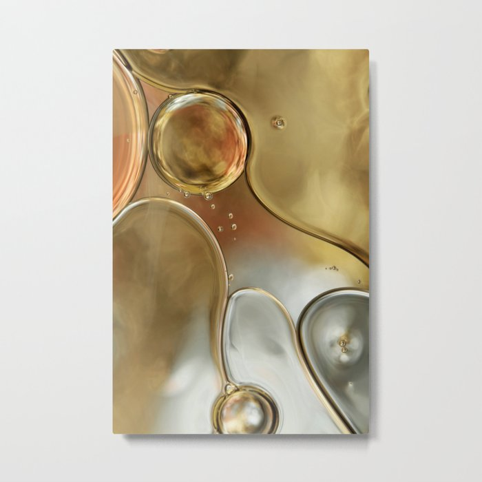 A Touch of Silver and Gold Metal Print