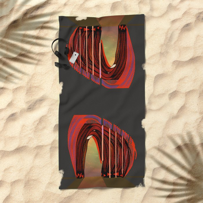 Entrance To The Unknown / Elephant 2 Beach Towel