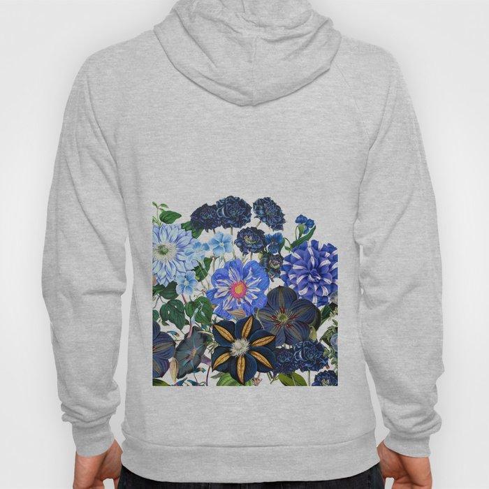 Vintage & Shabby Chic - Blue Flower Summer Meadow Hoody