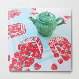 Strawberries! Metal Print