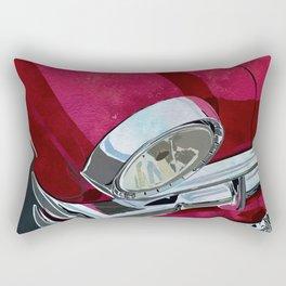 Classic Retro Car Art Series #1 in Gypsy Red Rectangular Pillow