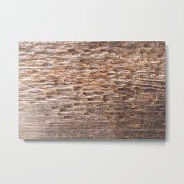 Old distressed wood Metal Print