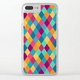 Colored Diamonds Clear iPhone Case