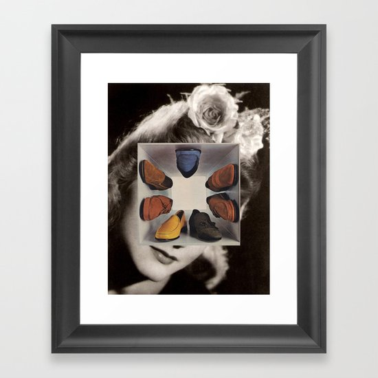 shoes (box) Framed Art Print