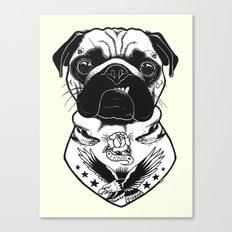 Dog - Tattooed Pug Canvas Print
