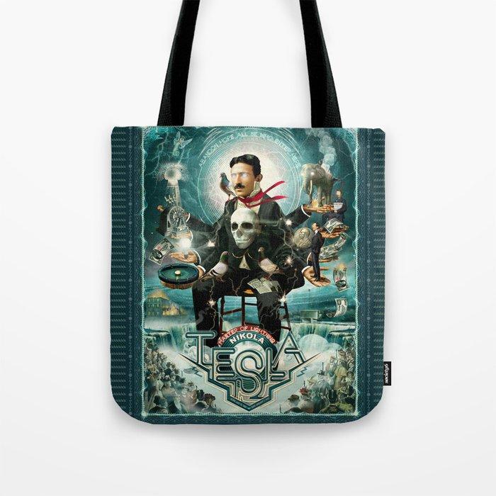 Nikola Tesla Master of Lightning Tote Bag