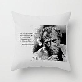 BUKOWSKI - people quote Throw Pillow