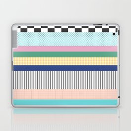 Stripes Mixed Print and Pattern with Color blocking Laptop & iPad Skin