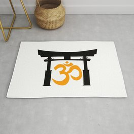 Tori Gate Silhouette and Om Rug