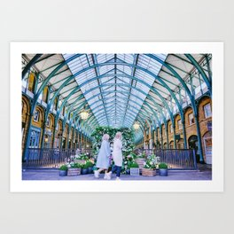 Flower wall at Covent Garden Art Print