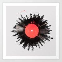 vinyl Art Prints featuring The vinyl of my life by Robert Farkas