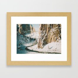 Smith Rock in the Snow Framed Art Print