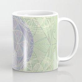 Mandala Pattern in Mint and Lilac Coffee Mug