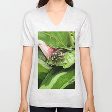Wasp on flower16 Unisex V-Neck