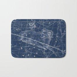 Aries sky star map Bath Mat