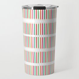 Seamless pattern in back to school theme Color pencil Stripes Travel Mug