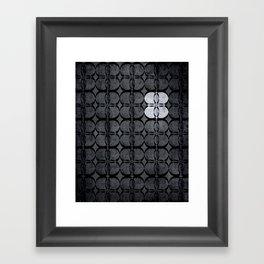 Pattern Eight Black and White Framed Art Print