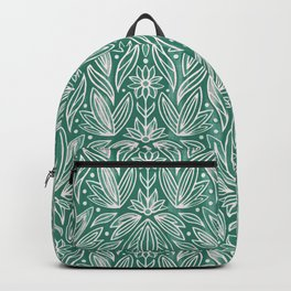Rococo Bluish Green Art Deco  Backpack
