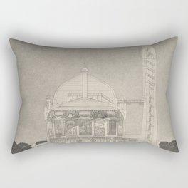 Otto Wagner - Modernist Church Architecture (1898) - Parish Church Währing Cutaway Diagram Rectangular Pillow