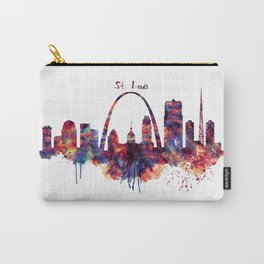 St Louis Watercolor Skyline Carry-All Pouch
