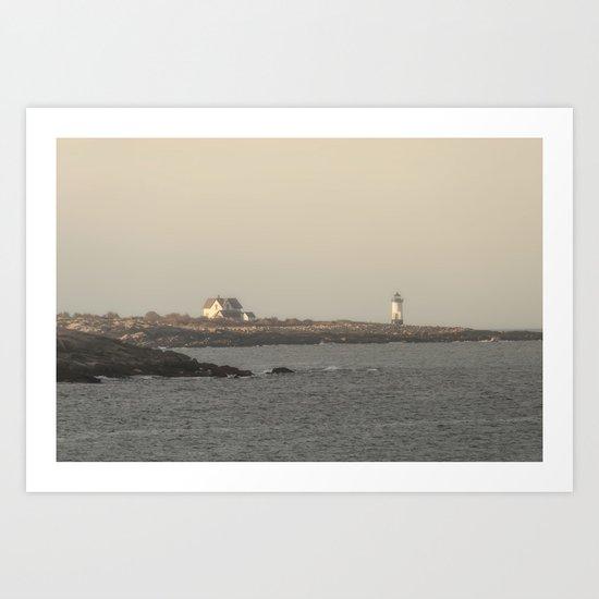 Hazy Straitsmouth lighthouse Art Print