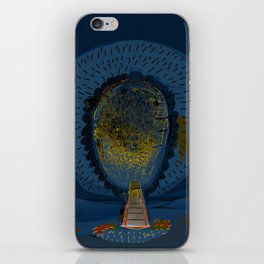 Tree Cactus in a Blue Desert iPhone Skin