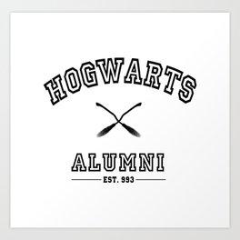 Hogwarts Alumni Art Print