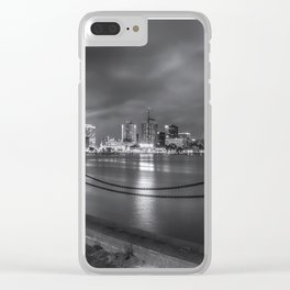 Norfolk Skyline II in Black and White Clear iPhone Case