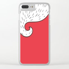 Merry Christmas and a Happy New Year Santa Print Clear iPhone Case
