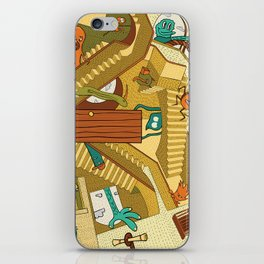 Monsters on Stairs iPhone Skin